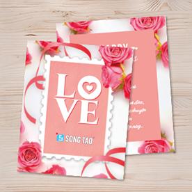 Thiệp tình nhân - Thiệp lễ tình nhân - Thiệp 14-2 - Thiệp tình yêu - Thiệp Valentine
