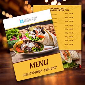 Menu - In menu - Menu nhà hàng - Menu quán