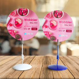 Wobbler quảng cáo - Quạt - Quạt giấy - Quạt nhựa - In quạt giấy - In quạt nhựa - wobbler để bàn - sản xuất wobbler - in wobbler
